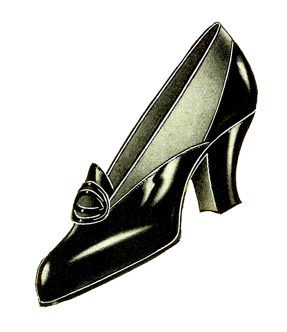 Vintage shoes for women. Heels clipart fashion shoe