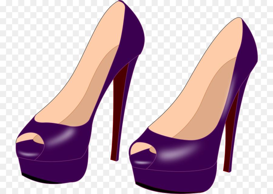 Purple shoes high heeled. Heels clipart footware