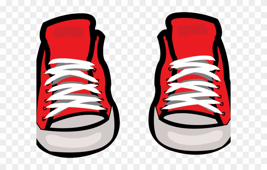 Converse clipart boy shoe. Sneakers training red clip