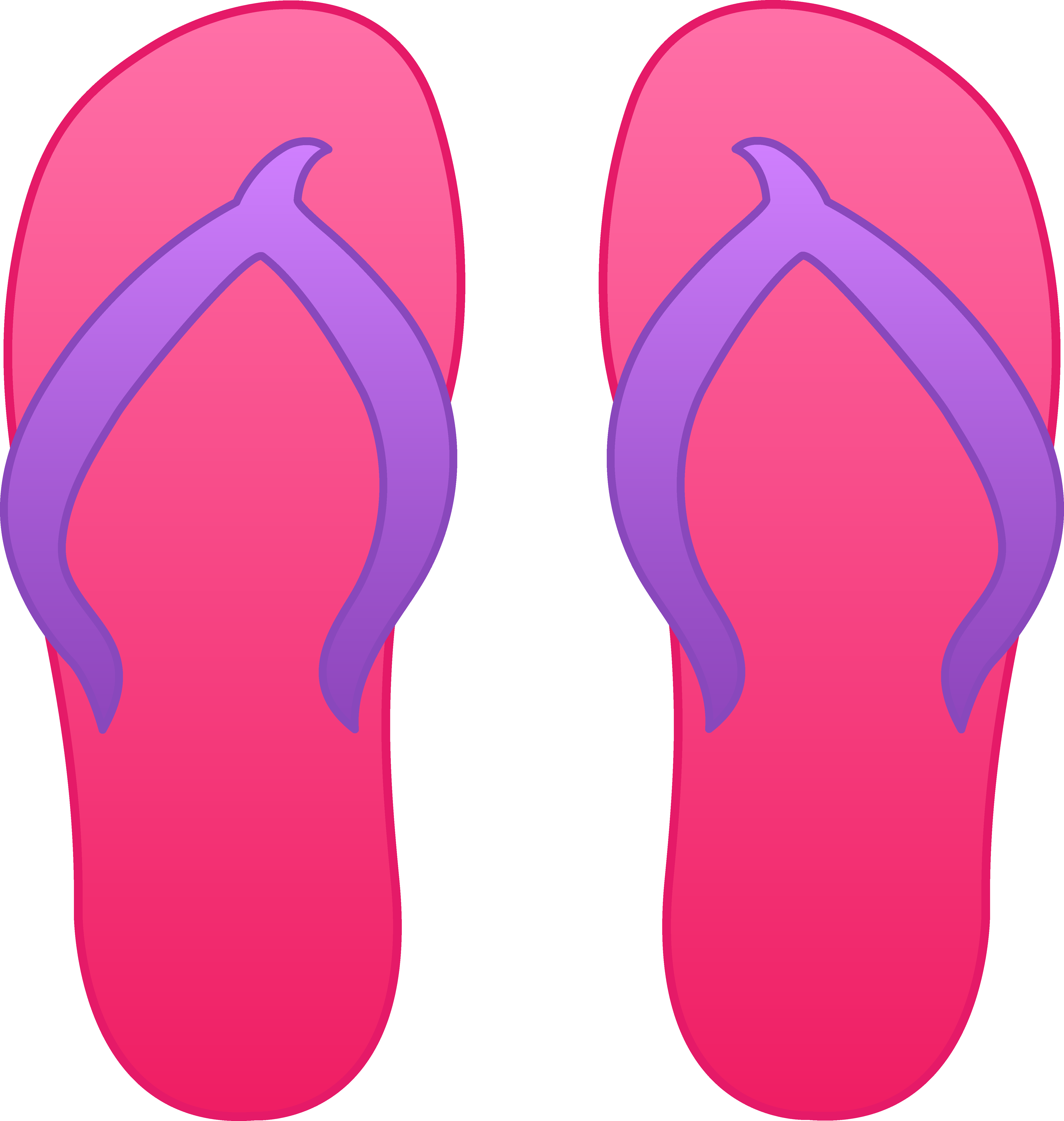 Pink flops free clip. Purple clipart flip flop