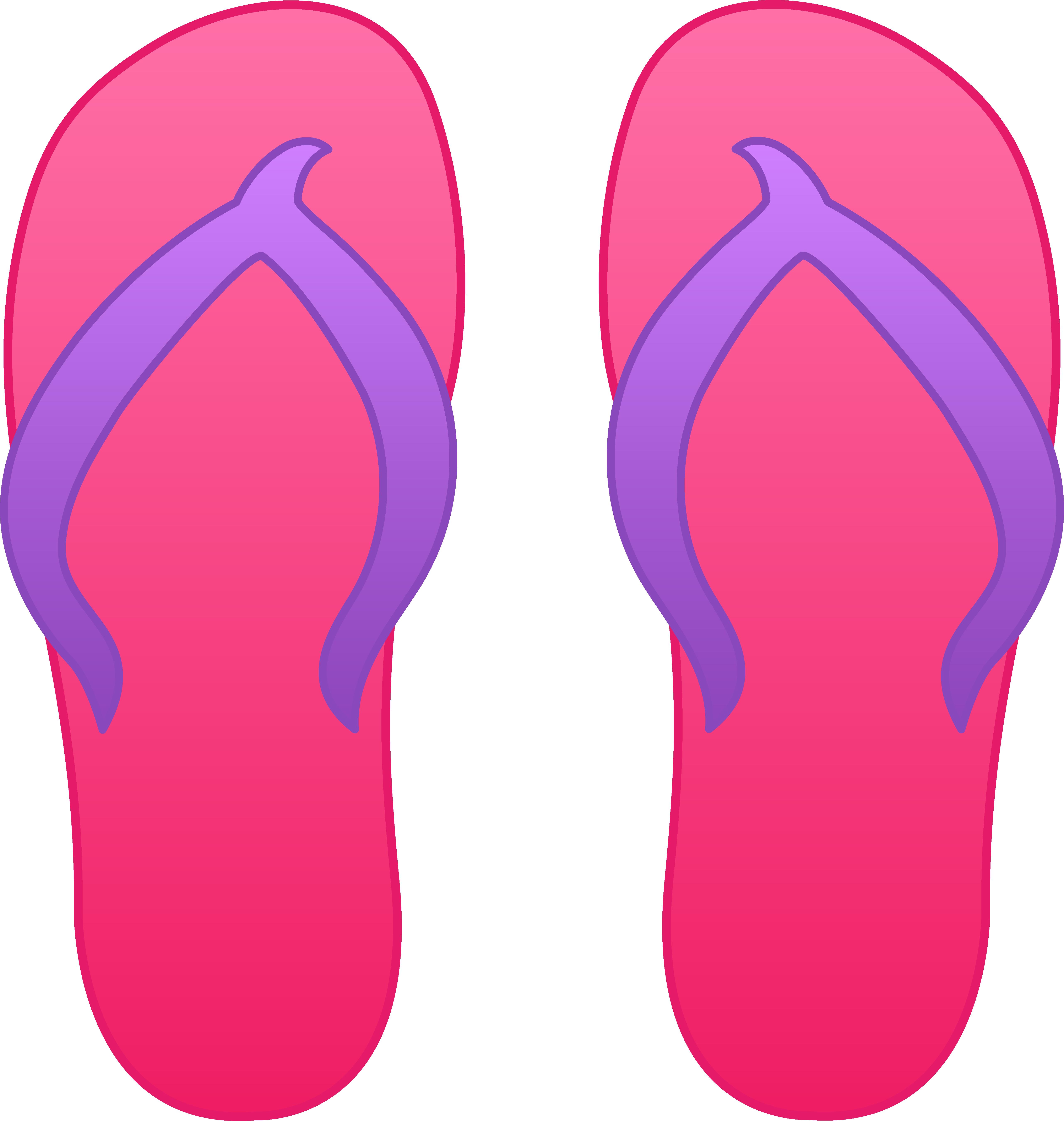 Pink flip flops free. Hawaii clipart cartoon