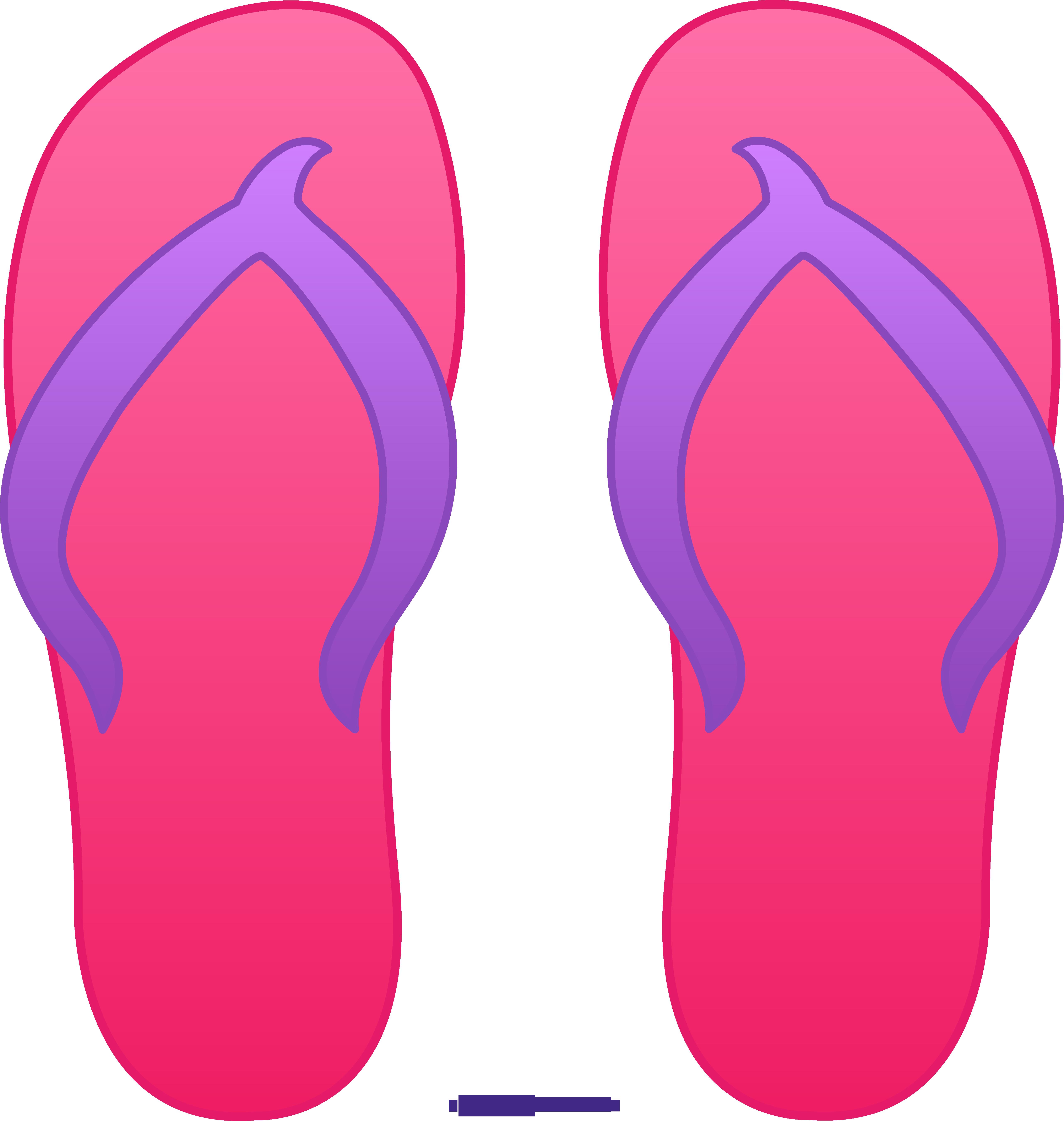 Mail clipart pink. Flip flops sweet clip