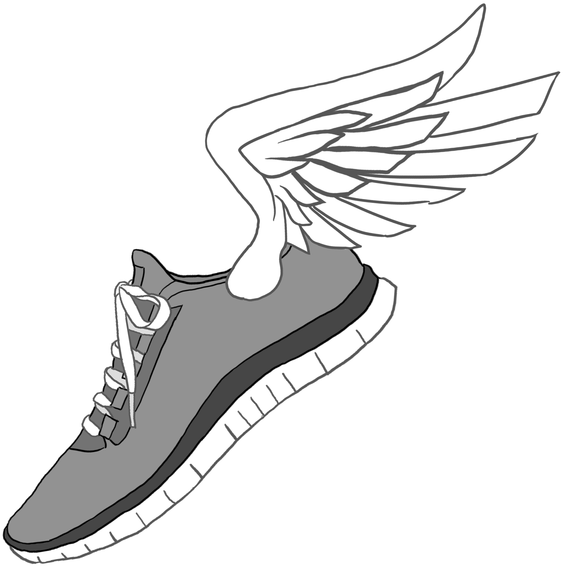 collection of nike. Track clipart cross country
