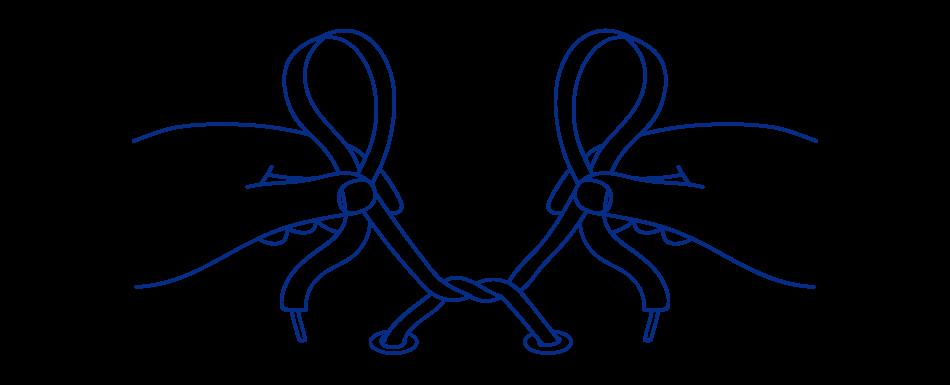 How to tie school. Lace clipart shoe lace