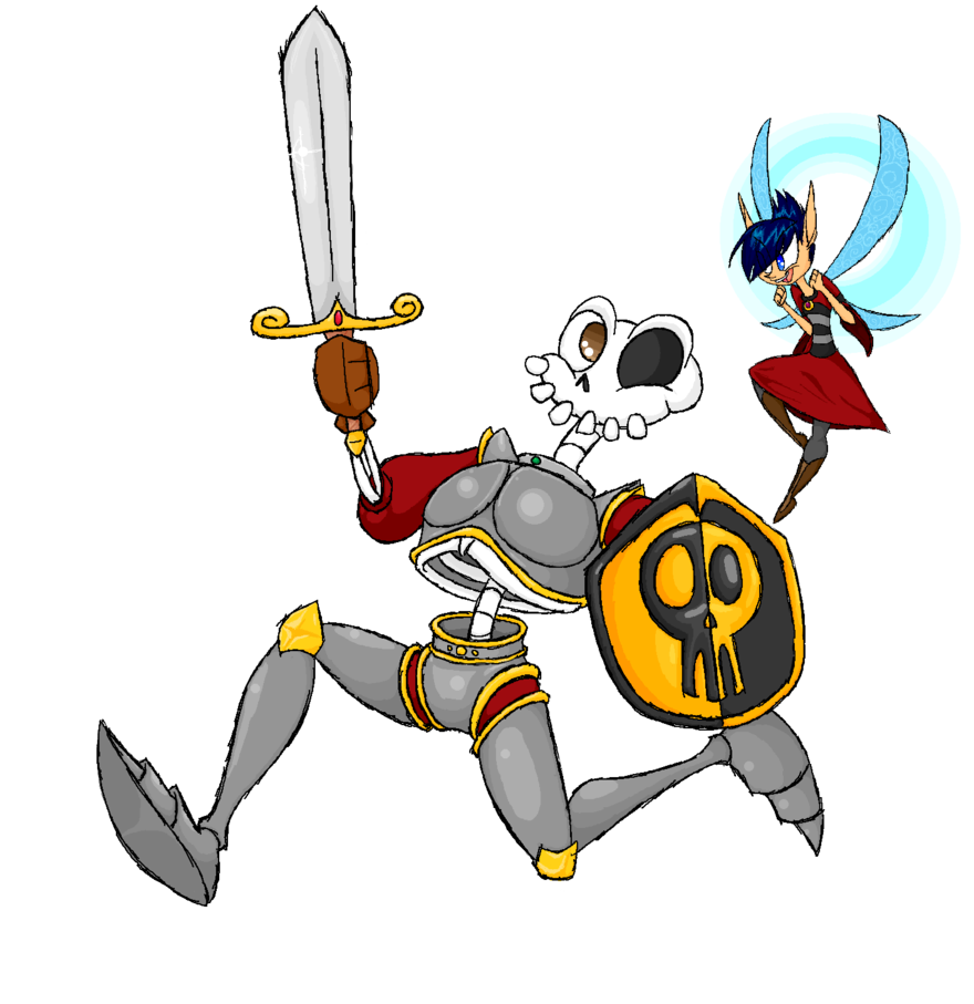 Fairy and knight t. Moving clipart skeleton