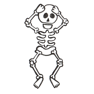 Free cartoon cliparts download. Skeleton clipart animated
