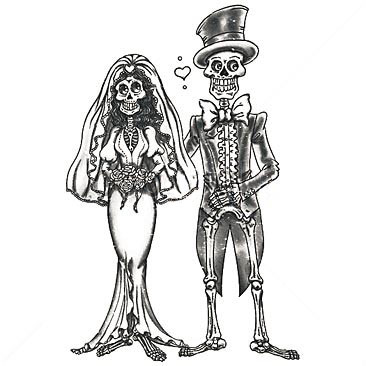 Free gothic cliparts download. Clipart skeleton couple