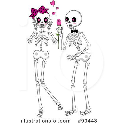 . Clipart skeleton couple