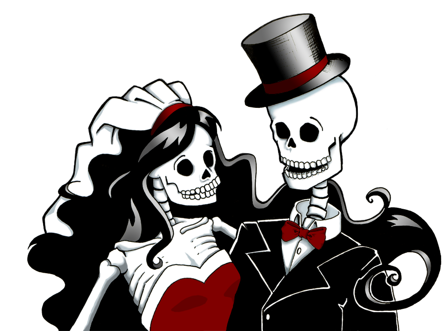 collection of halloween. Clipart skeleton couple