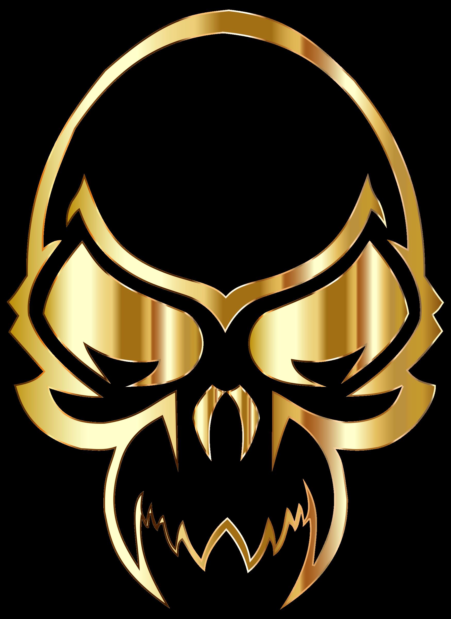 Longhorn clipart skeleton. Golden skull big image