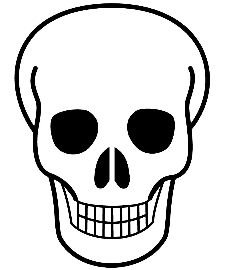 Clipart skull drawn.  collection of simple