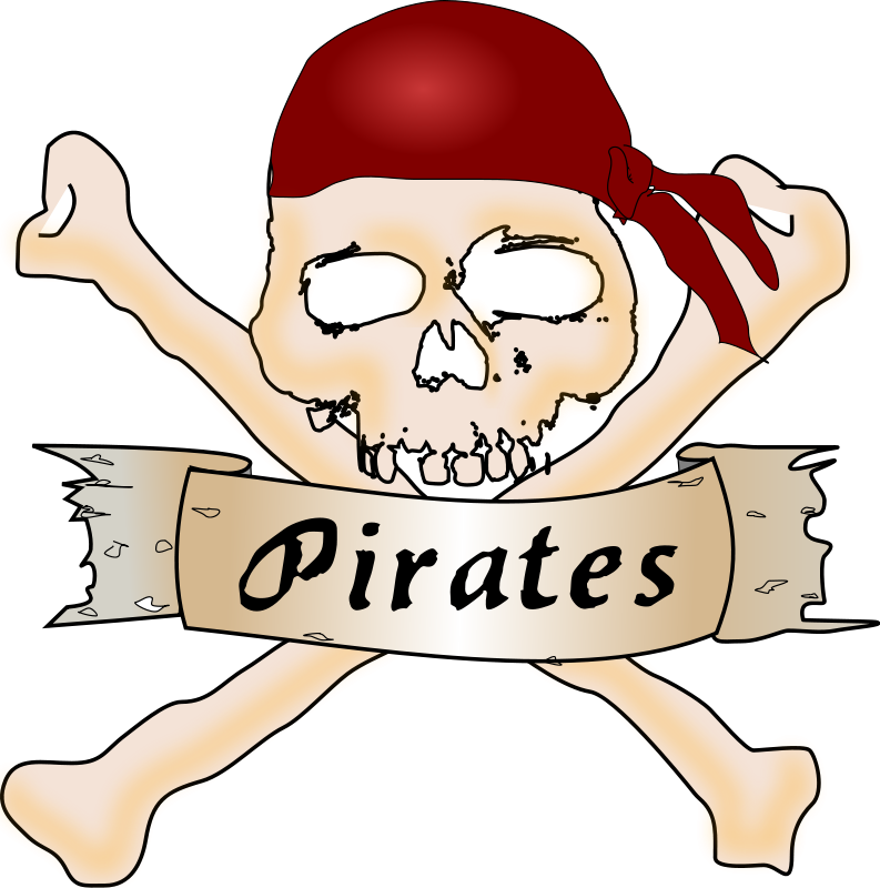 Skull and crossbones free. Pirate clipart football