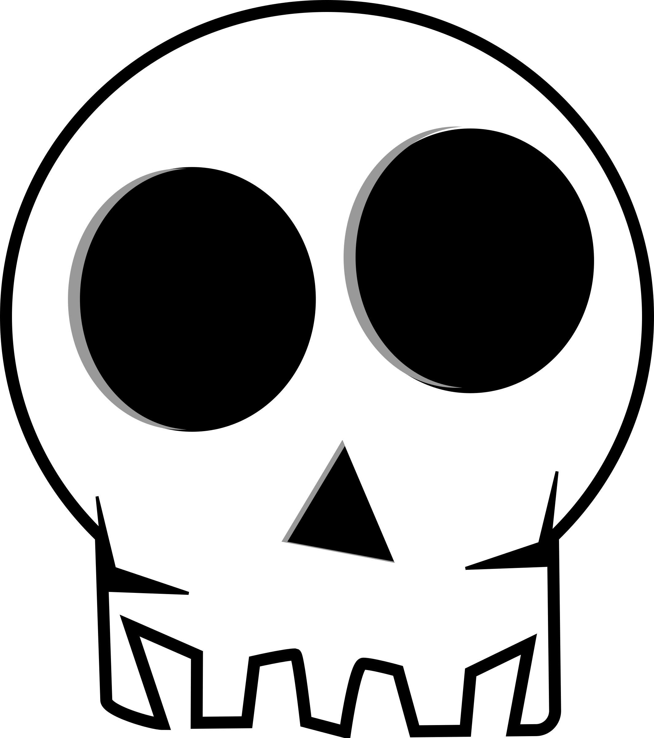 Skull big image png. Girly clipart black and white