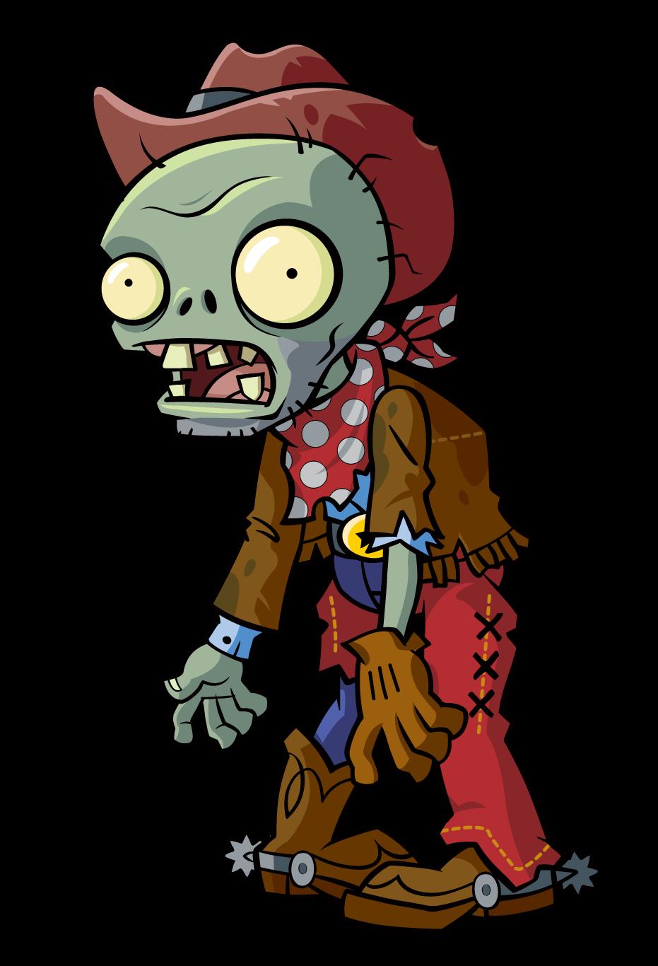 Plants clipart zombie. Dead cowboy