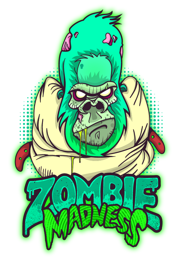 Zombie clipart zombie word. Madness on behance cartoon