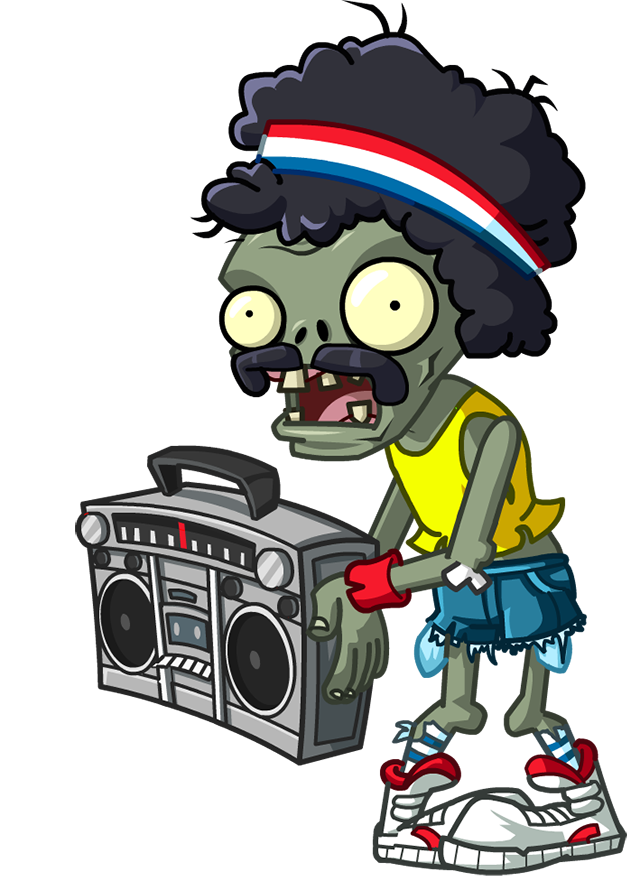Skeleton clipart dancing zombie. Boombox plants vs zombies