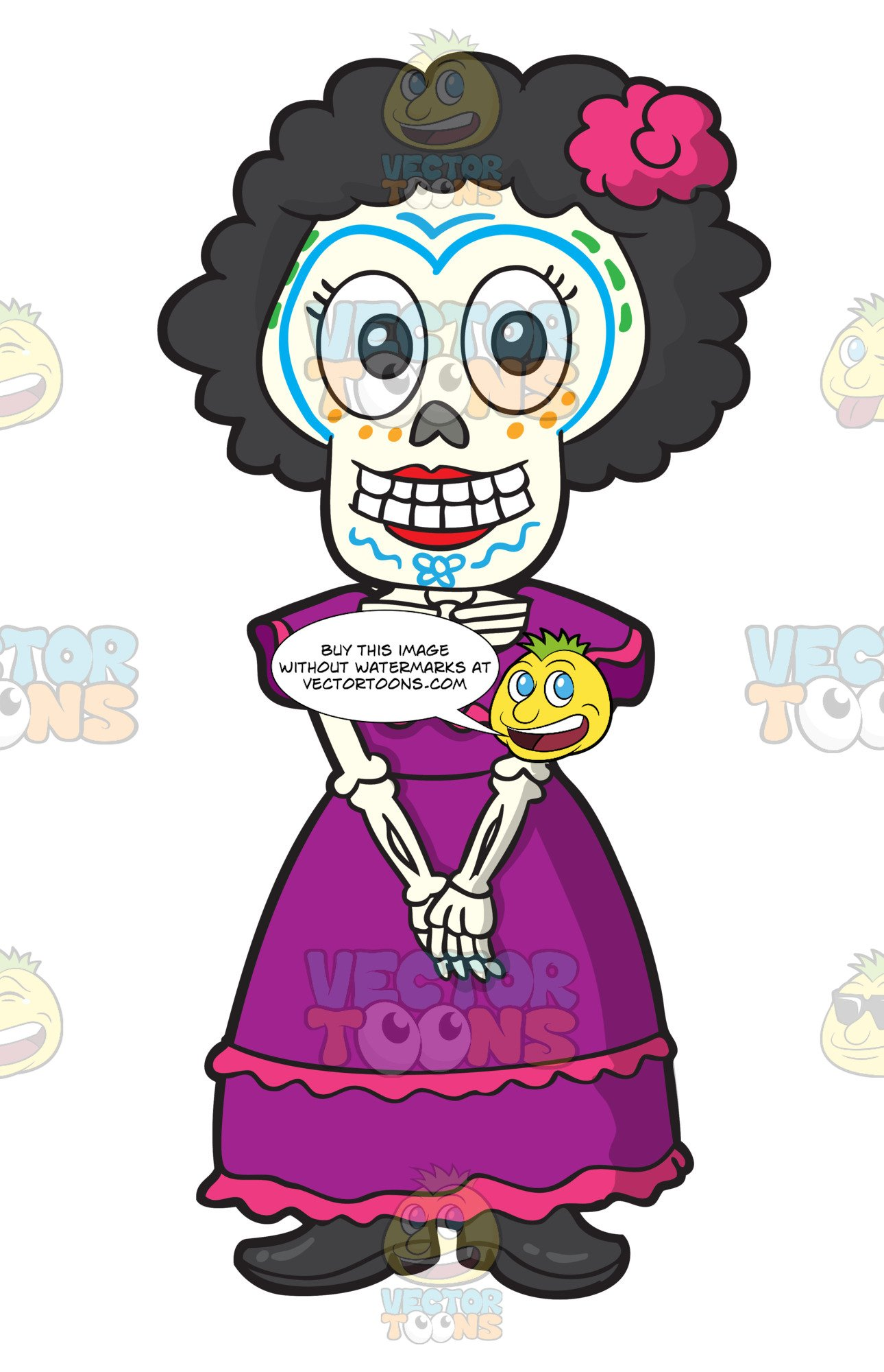 Of a shy woman. Clipart skeleton day the dead