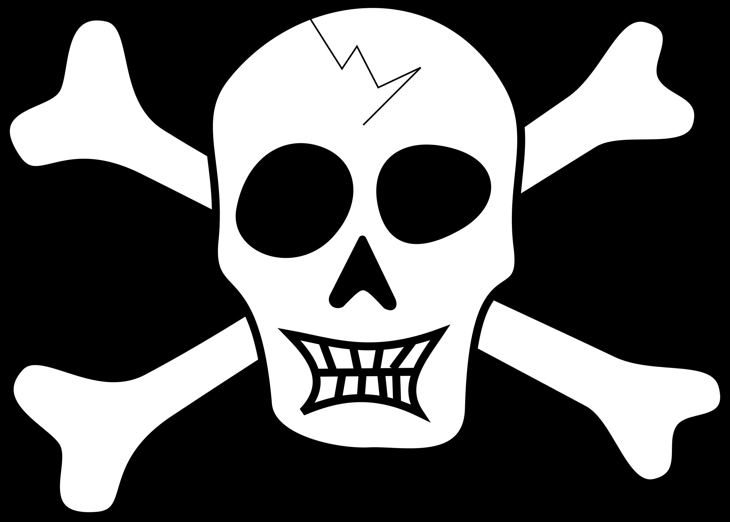 Pirate skull big image. Pirates clipart simple
