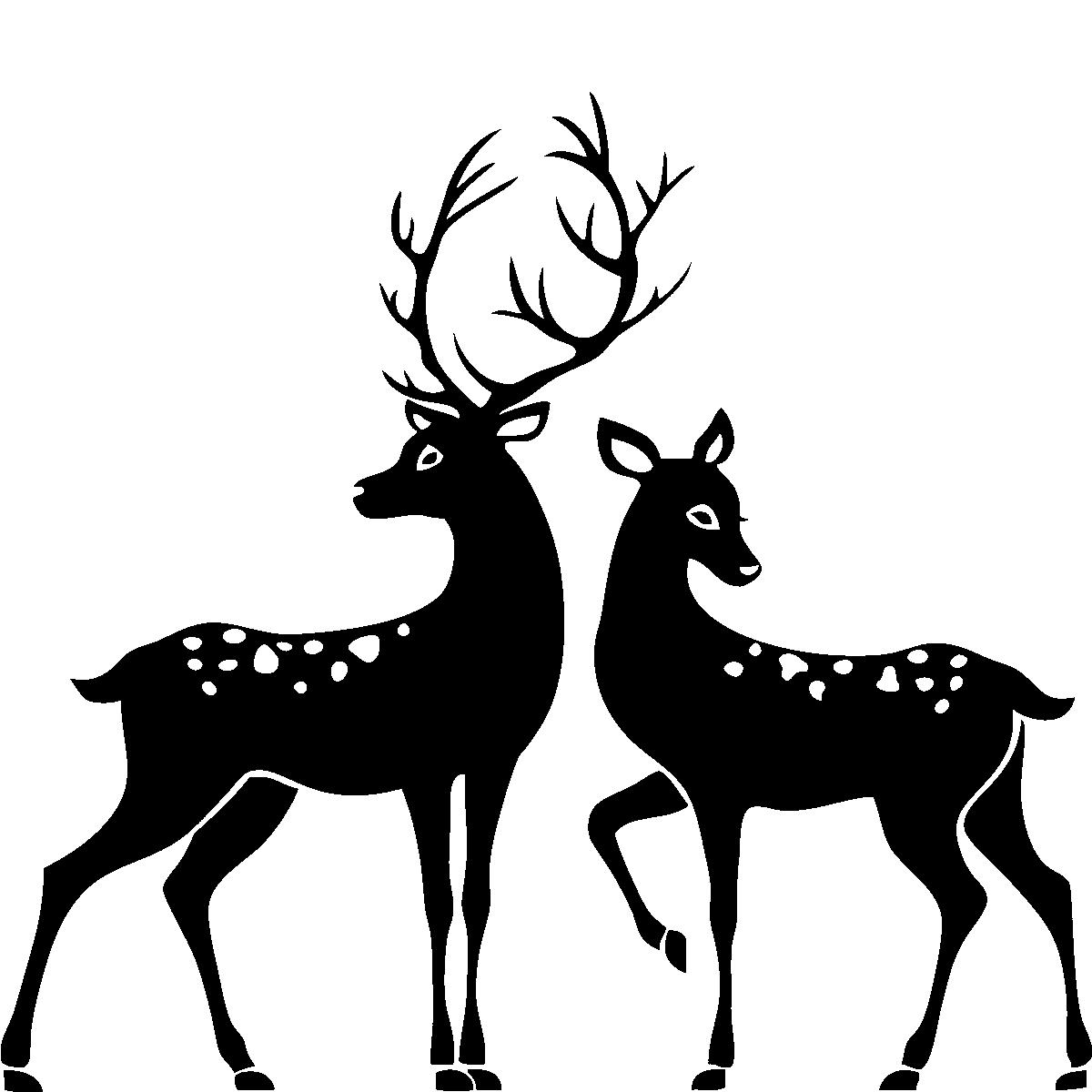 Deer clipart spotted deer. Drawn buck female pencil