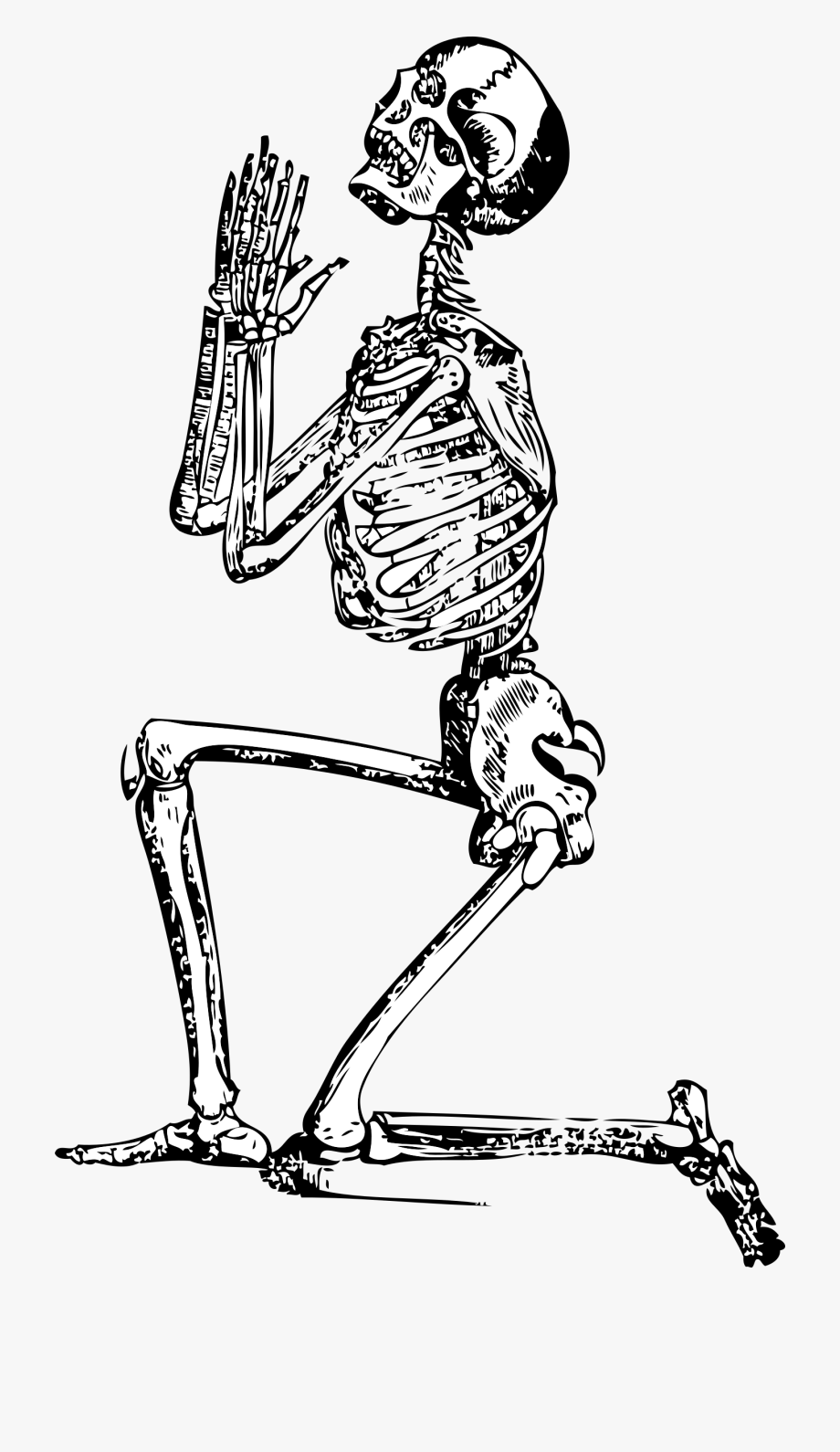 Fist clipart skeleton. Praying free cliparts