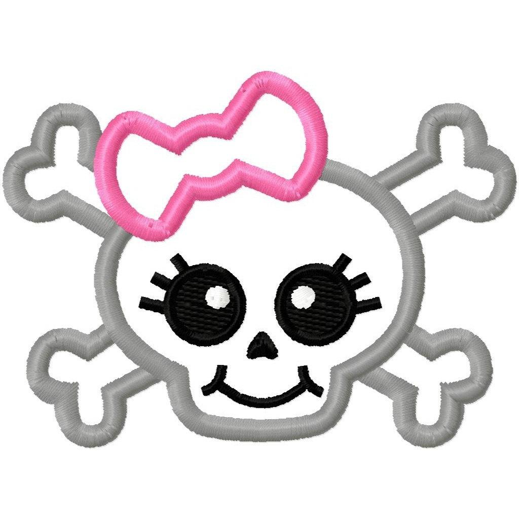 Free girl skulls cliparts. Clipart skull feminine