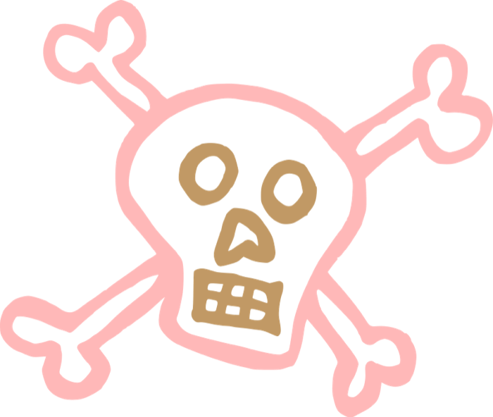 Skull and crossbone for. Love clipart pirate