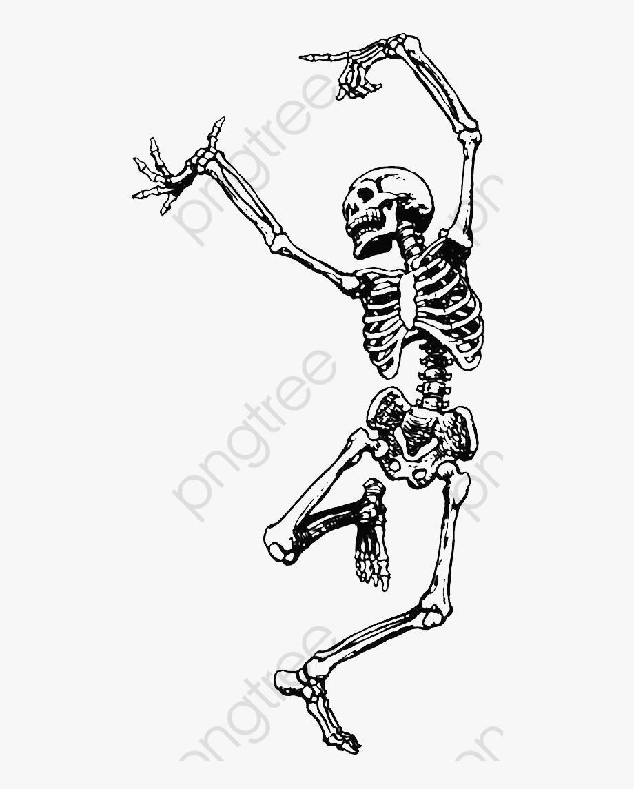 Clipart skeleton line art. Happy dancing free