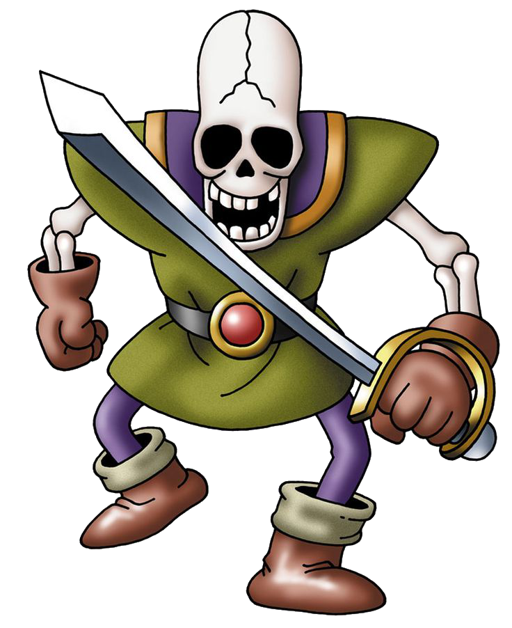 Soldiers clipart soldier japanese. Skeleton dragon quest wiki