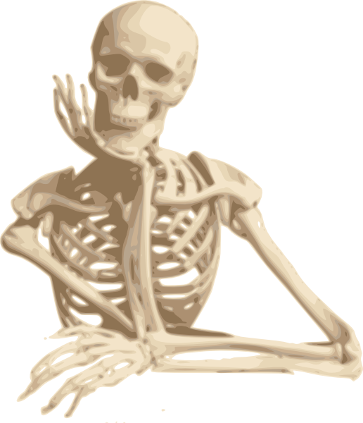 Moving clipart skeleton. Friend clip art at