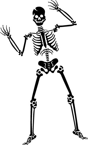 Small clip art library. Skeleton clipart office