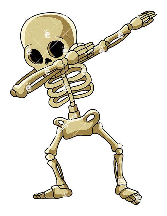 Clipart skeleton strong. A dabbing clip arts