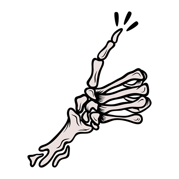 collection of drawing. Clipart skeleton thumbs up