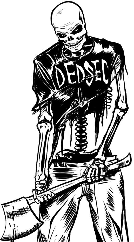 Dogs dedsec skeleton images. See clipart watch video