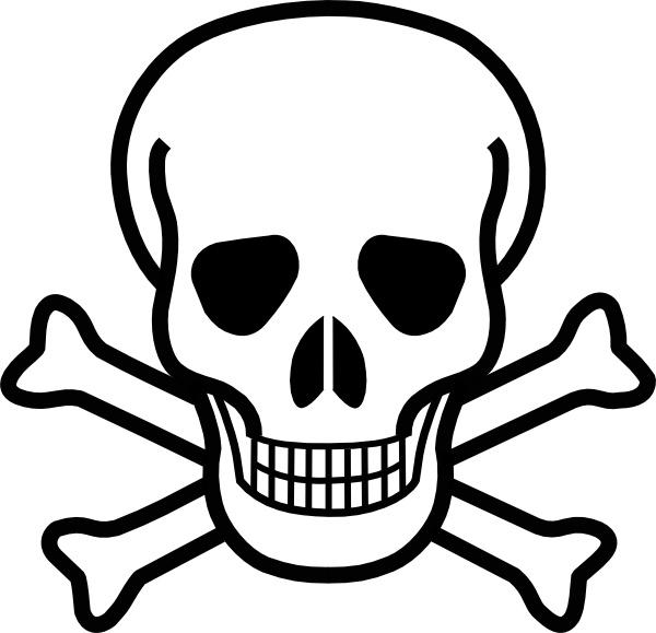 Skull and crossbones clip. Bone clipart cross