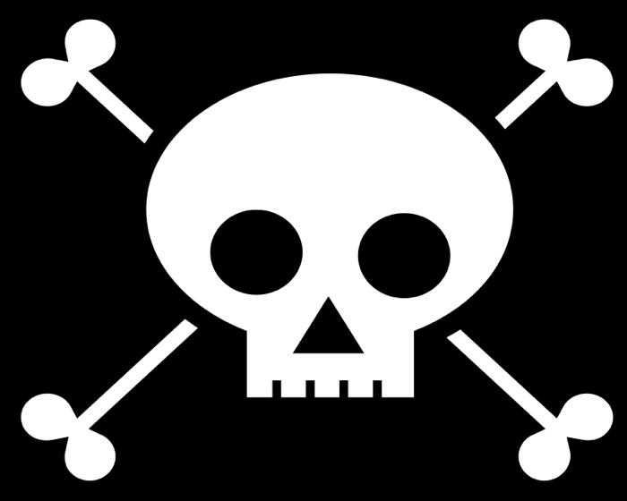 And crossbone very piratey. Halloween clipart skull