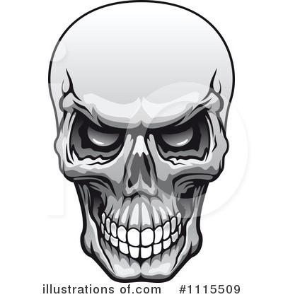 Illustration by vector tradition. Clipart skull