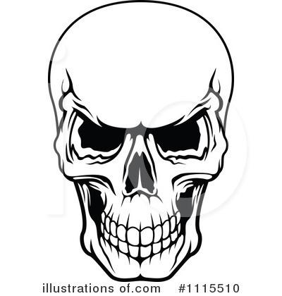 Clipart skull. Demon