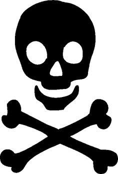 Clipart skull. For stencils panda free