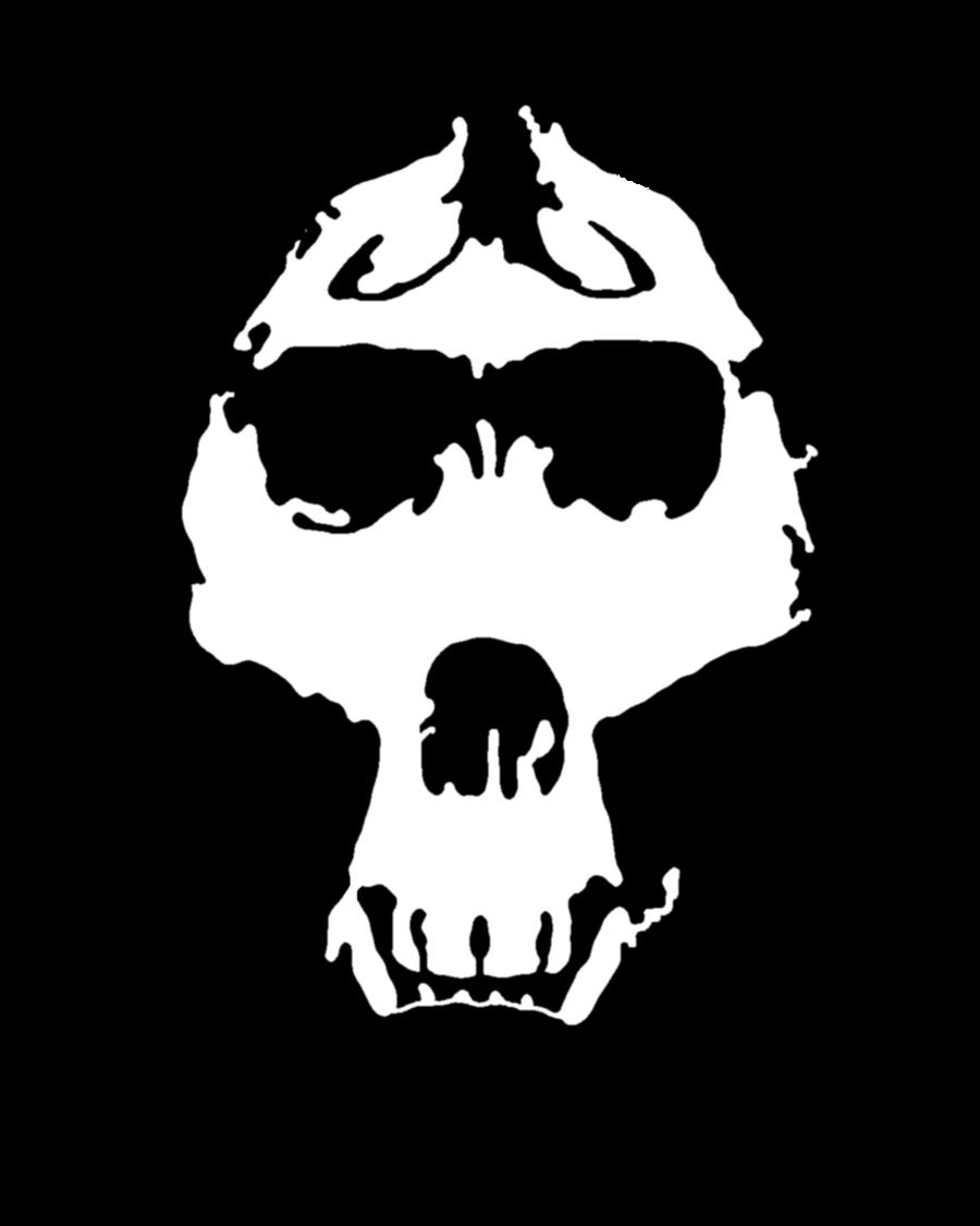 Skull stencil by zimdrake. Gorilla clipart mad