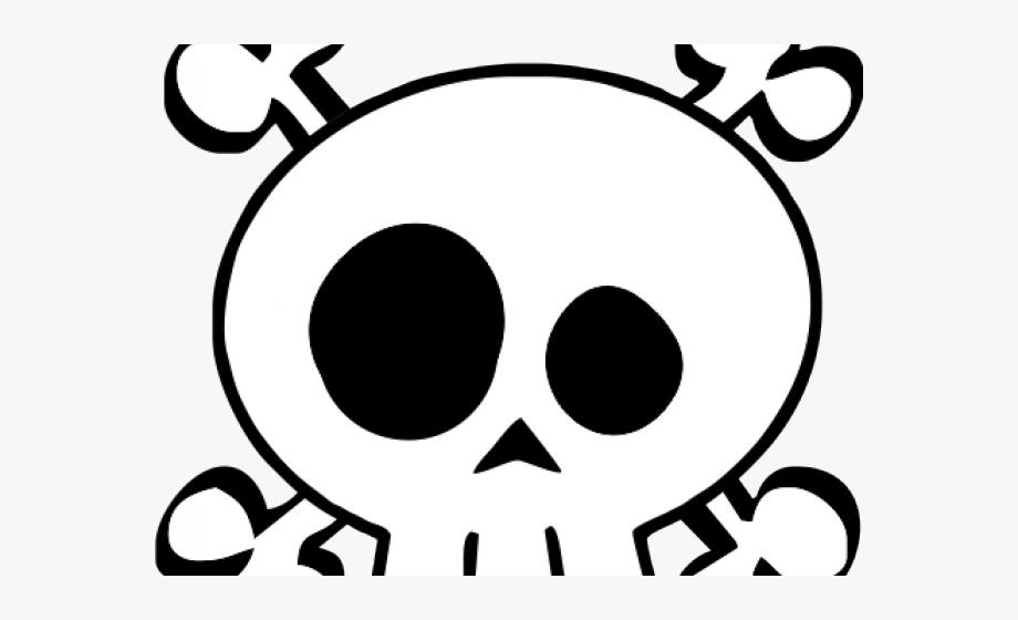 Head friendly baby skull. Skeleton clipart kid