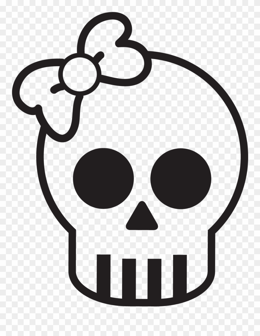 Clipart skull basic. Simple cute www pixshark