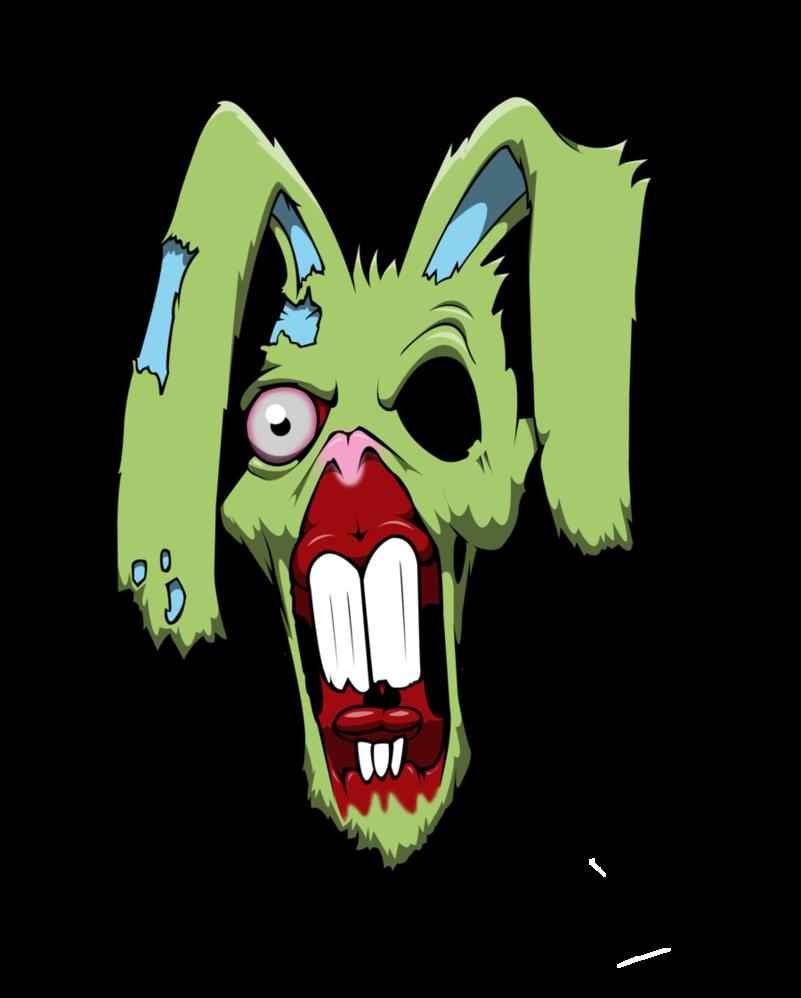 Zombie clipart rabbit. Bunny by yayzus on