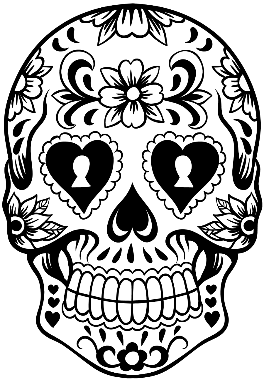 Sugar skull wreath pinterest. Skeleton clipart bow