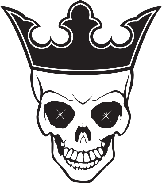 And crown tattoo transparent. Wing clipart skull