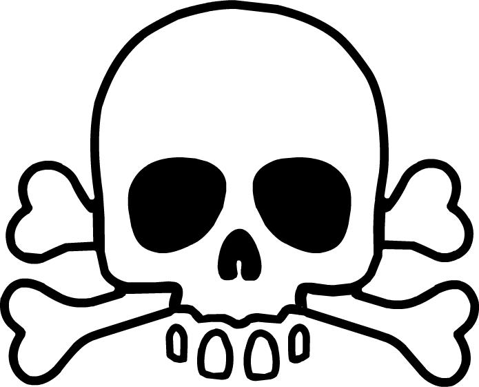 Skull and cross bones. Clipart skeleton strong