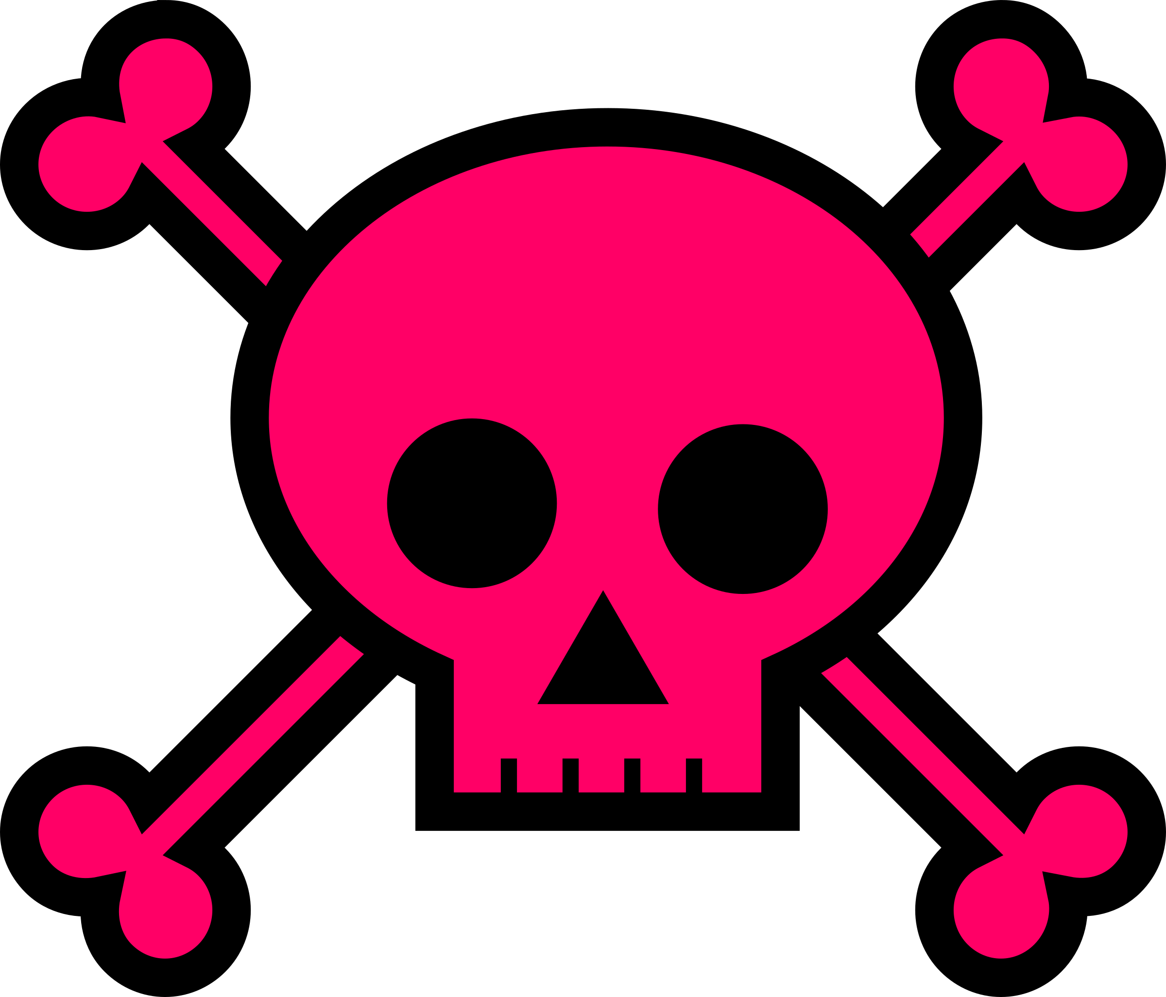 Girly clipart spider. Skull and crossbones large