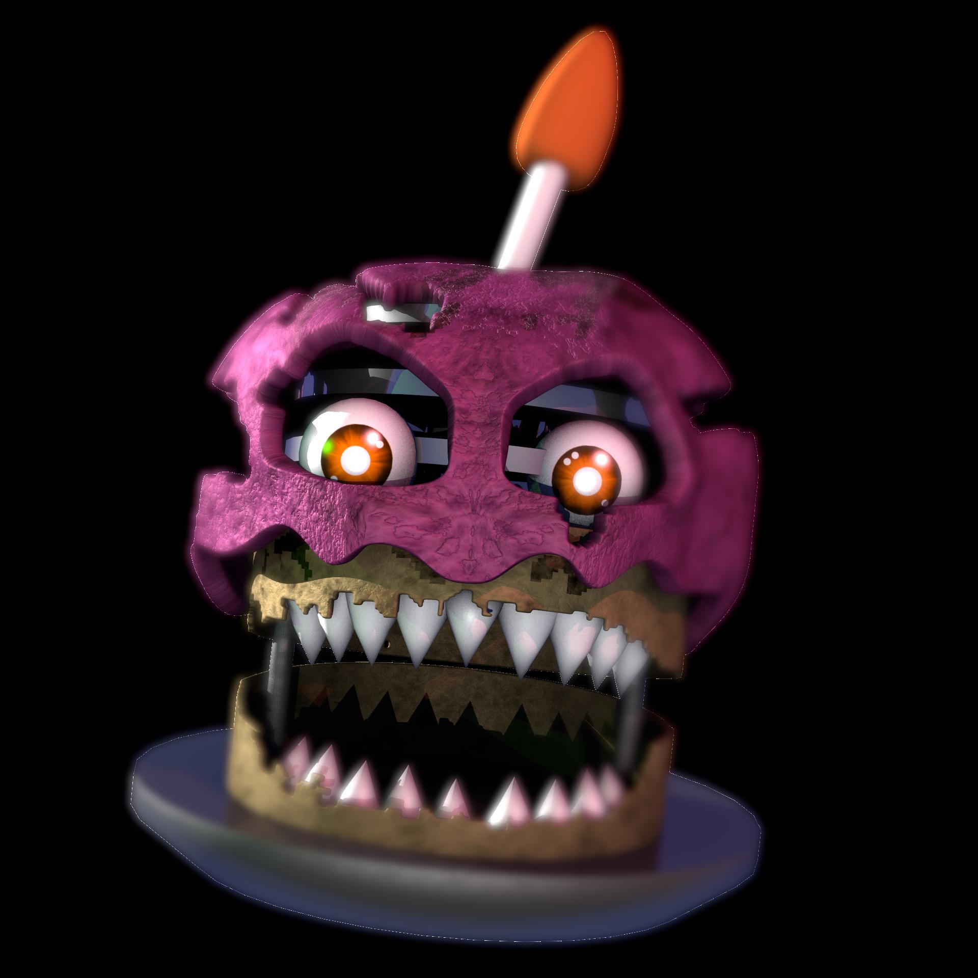 Clipart skull cupcake. Nightmare model fivenightsatfreddys modelnightmare