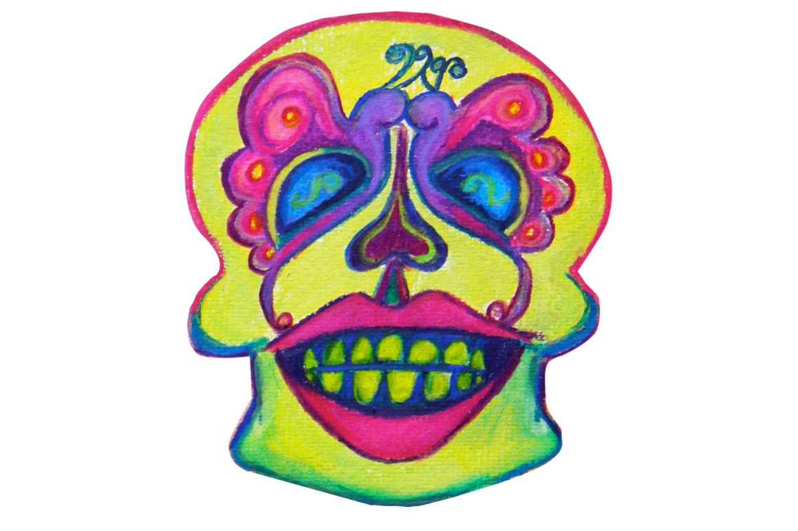 Day of the hand. Dead clipart skull drawing