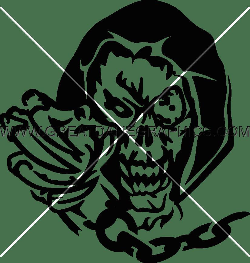 Demon production ready artwork. Clipart skull demonic