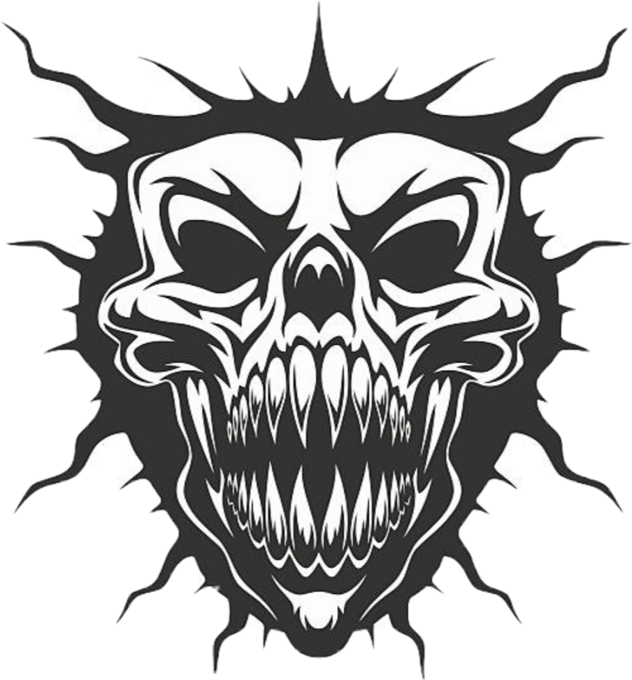 Clipart skull demonic. Satan satanic sticker by